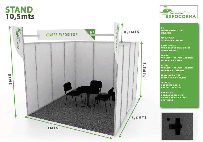 Stand 10mt2