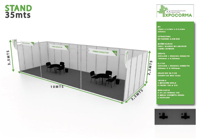 Stand 35mt2 lineal
